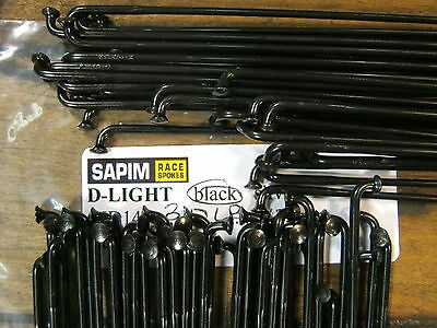 SAPIM D-LIGHT Black Spokes 2.0/1.65mm Double Butted *Any Qty.**Any Length* NEW