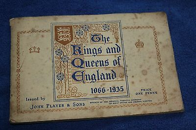 John Player Cigarette Card Book 'The Kings and Queens of England 1066-1935' Full