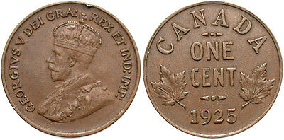 CANADA: 1925 1 Cent #WC70899
