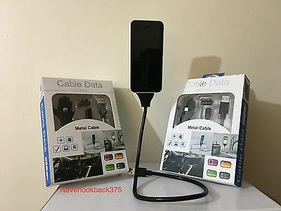 Twister Cable Dock & Tripod Fuse Une Bobine Charger Cable For Iphone 5 6 & 7 UK