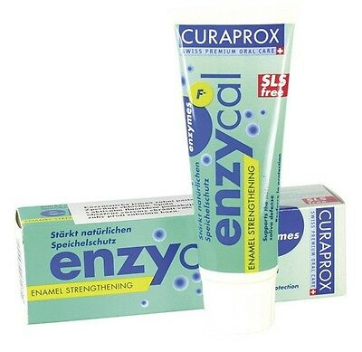 curaprox enzycal   12 tubes of toothpaste SLS free.    post free uk