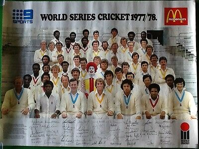 Extremely Rare World Series Cricket 1977/78 McDonalds poster