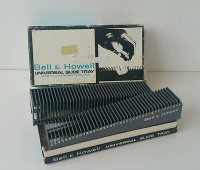 Bell and Howell: Universal 35mm Slide Trays in Box X 2 Each Tray Holds 40 Slides