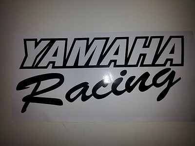 Yamaha Racing sticker / decal , black or white or choose your colour.