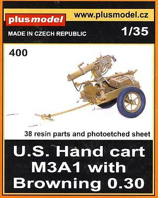 Plus model U.S. hand carts M3A1 with Browning 0,30 model kit Etched parts - 1:35