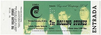 THE ROLLING STONES *1982* original concert ticket madrid spain VERY HARD TO FIND