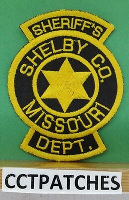 Shelby County, Missouri Sheriff (Police) Shoulder Patch Mo