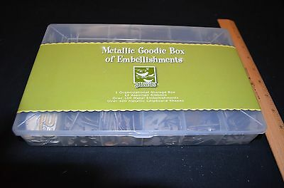 3 Birds Metallic Goodie Box of Embellishments NEW