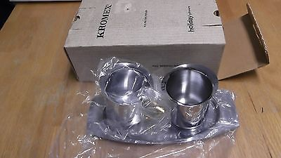 Kromex Sugar And Creamer On Matching Tray In Original Box