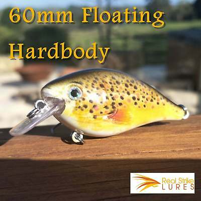 6cm Fishing lure Bream Trout Yellowbelly Redfin Bass Perch Cod Whiting crankbait