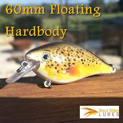6cm lures Bream Trout Flathead  Fishing Lure Yellowbelly Bass Barra