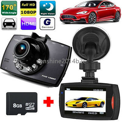"2.7"" Autokamera Recorder KFZ DVR Überwachung Dashcam HD 1080P Video + TF Karte"