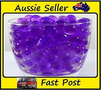 500Ball/lot Purple Pearl Shaped Crystal Water Beads Soil Water Crystal Balls