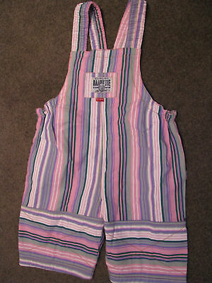 Bnwt Girls Pink Striped Shortall Overalls Playsuit Size L 8 9 10
