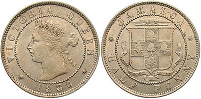 JAMAICA: 1880 1/2 Penny #WC69936