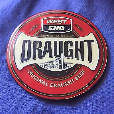 West End Draught Beer Tap Badge, Decal, Top