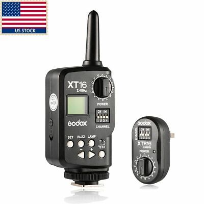 Godox XT-16 Wireless 2.4G Power Controller Flash Trigger Set for Studio Flashes