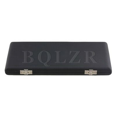 BQLZR Black Saxophone Reed Box Case with Flannel Inside Hold 10pcs Reeds