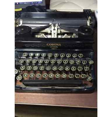 Antique Typewriter USA LC Smith & Corona Typewriters Ins CORONA JUNIOR Model S