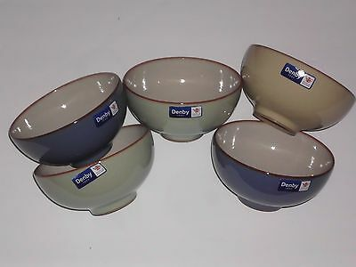 Denby Heritage Fountain 5 Rice Bowls Multie Color New