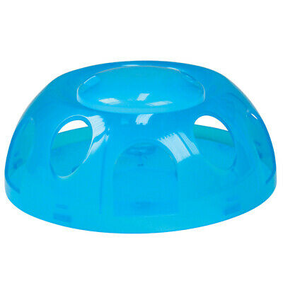 Smartcat Tiger Diner Interactive Cat Bowl - Transparent Blue Plastic
