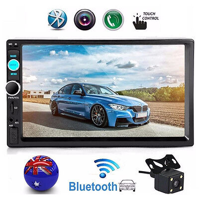 "7"" Double 2DIN In Car FM Stereo Radio MP5 Player Touch Screen Bluetooth + Camera"