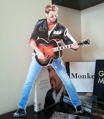 George Michael Promo CUTOUT Stendee NEW Faith Symphonica WHAM Freedom Older