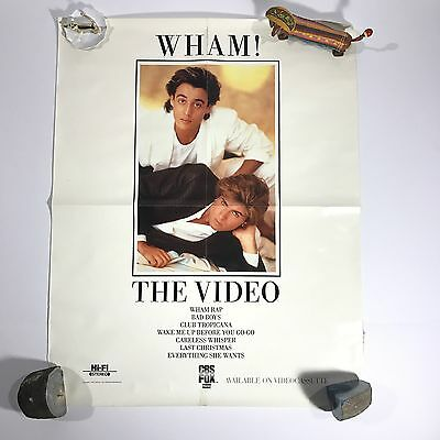 ©1985 Wham! 22x28 Poster authentic vtg george michael rare tour concert EUC 80s