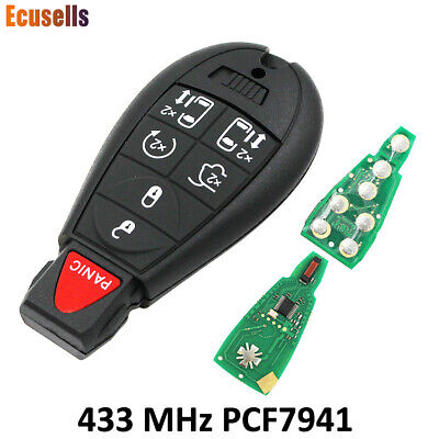 7 Button Remote Key Fob 434MHZ ID46 Chip for Chrysler Town,Country 2008-2012