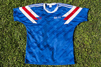 VINTAGE EDS-FF ADIDAS  FOOTBALL SHIRT 1980s  SIZE L