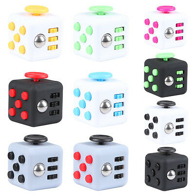 Fun Magic Fidget 6-Side Cube Focus Anxiety Stress Relief Puzzle For Adults Kids