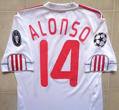 Authentic Adidas Liverpool 09/10 CL Third Jersey - Alonso 14. Mens S, Exc Cond.