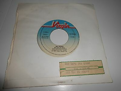 """SEX PISTOLS God save the queen/Did you no wrong 7"""" 1977 jukebox SPANISH promo"""
