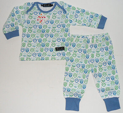 Size 6-12 Mths - Gift Box - Oobi Baby Boys Blue/White Pyjama sleepwear