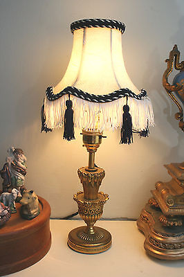 A Very Fine Antique 1920's Empire Gilt Ormolu Table/Mantel Lamp, Fully Rewired