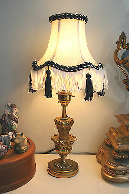 Fine Antique 1920's Empire Gilt Ormolu Small Table or Mantel Lamp, Fully Rewired