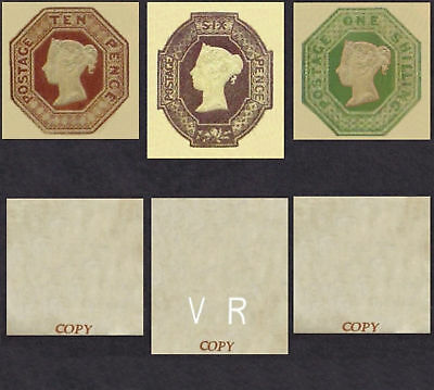 Queen Victoria Embossed Set (FORGERIES)