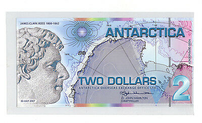 2007 ANTARCTICA $2 Banknote World Money Currency Polymer Note UNC