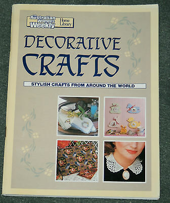 Australian Women's Weekly DECORATIVE CRAFTS book craft sewing cross stitch rugs