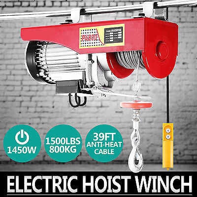 400/800KG Electric Hoist Winch Lifting Engine Crane Garage Overhead Brackets