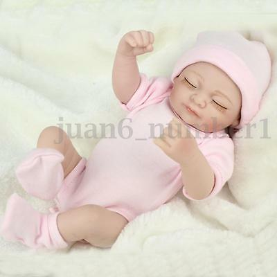 Handmade Lifelike Baby Girl Doll Silicone Vinyl Reborn Sleeping Bambole Toy HOT