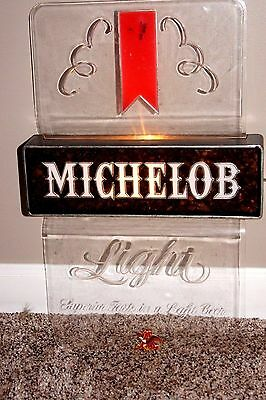 Vintage Michelob Beer Light Bar Works Advertising Sign~Man Tavern Collectible