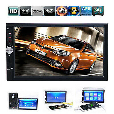 """7"""" Double 2 DIN Touch Screen Car GPS Stereo MP5 Player SD Bluetooth Radio UK"""