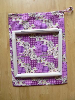 Q Snap/Rnr Frame Project Bag 8X8 Cross Stitch Fabric Choices