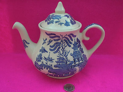 Collectable Tea Pot ' Old Willow?' Blue White Design