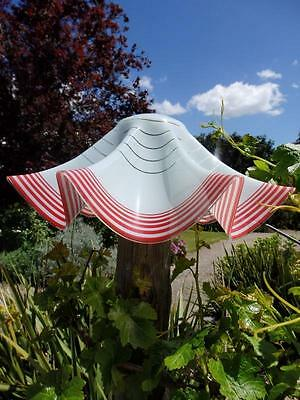 50s 60s VINTAGE Chic GLASS Lamp LIGHT SHADE Candy Stripe ROCKABILLY 47cm PERFECT