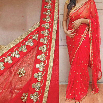 Indian Bollywood Replica Saree ethnic Designer unstiched Blouse fabrics freeship
