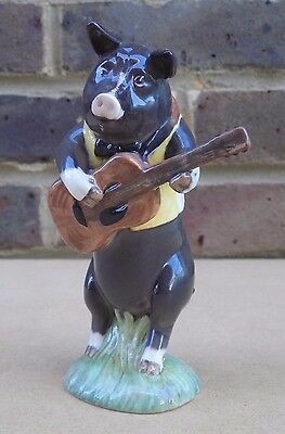 BESWICK Pig Band Member Figurine - Christopher on Guitar PP9