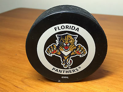 NHL ice hockey puck Florida Panthers-official product!