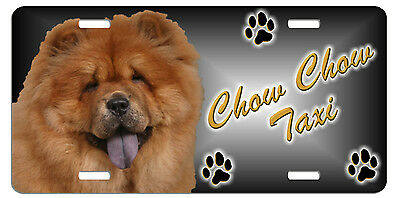 Chow red Taxi Line License Plate  (( SPECIAL LOW CLEARANCE PRICE ))